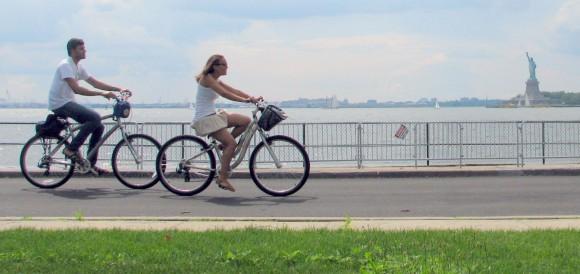 מסלולי אופניים. צילום מתוך: governorsislandalliance.org