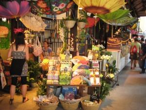 דוכן צבעוני בשוק האוכל סאן מיגל