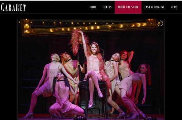 צילום מסך מתוך cabaretmusical.com
